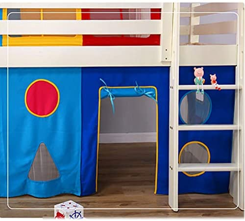 XJRS Las Tiendas de Cama de niños, Tienda de campaña Cama con Underbed Cortina, Obras en la Cama o en el Suelo, fácil de Montar