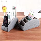 TV Remote Control Holder with 5 Compartments,Pu