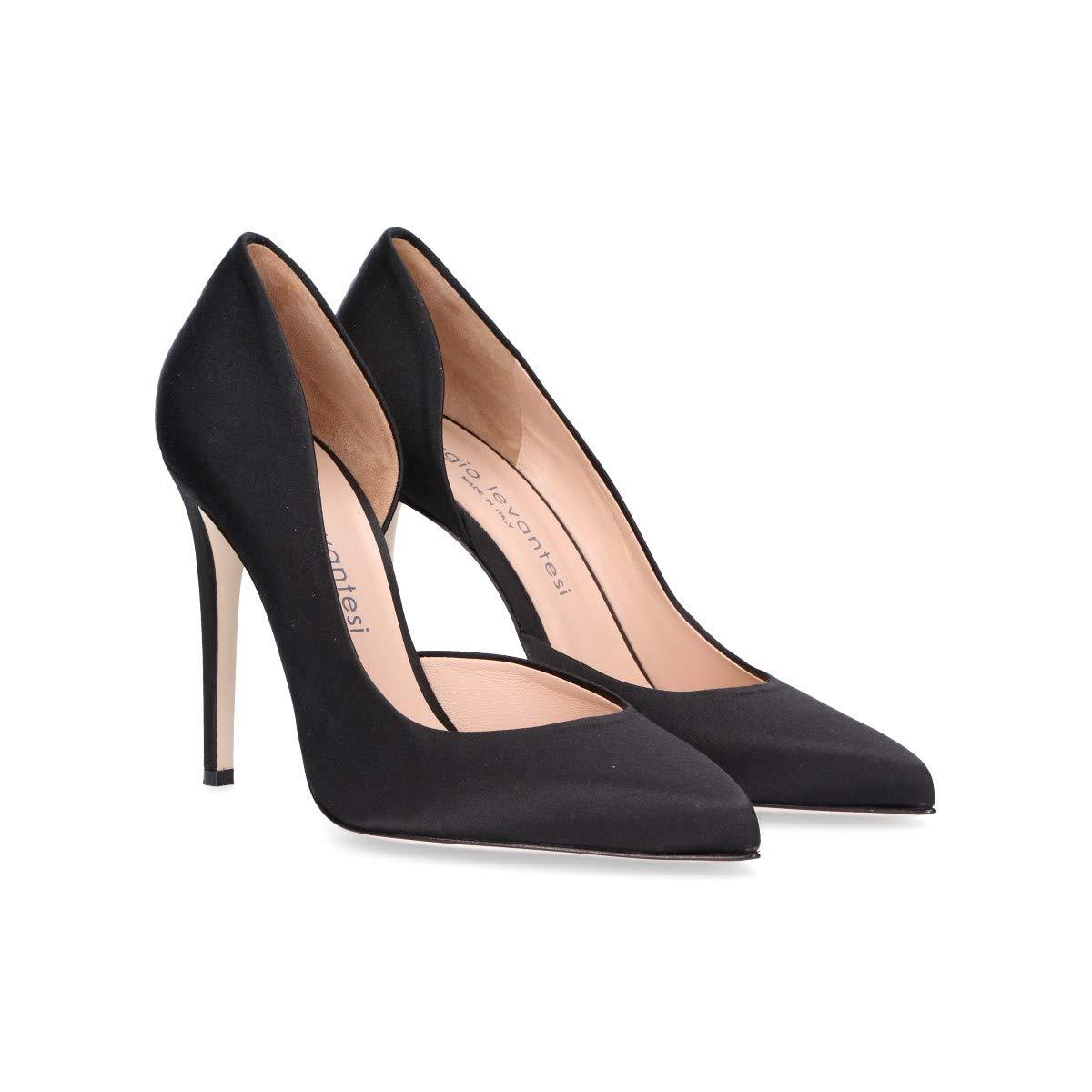 SERGIO LEVANTESI Femme MYKABLACK Noir Tissu Tissu Noir EscarpinsB07G4K8B6GParent 8387ee
