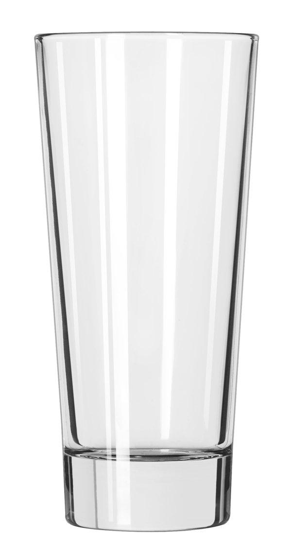 GLASS COOLER ELAN 16 OZ, CS 1/DZ, 08-1601 LIBBEY GLASS, INC. GLASSWARE