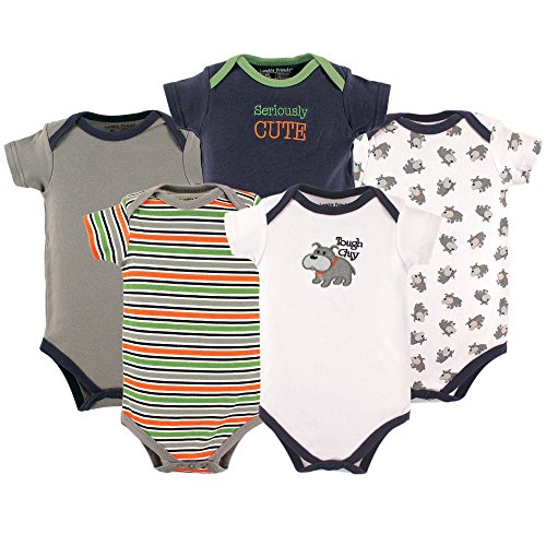 Luvable Friends 5 Pack Bodysuits, Dog, 9-12 Months