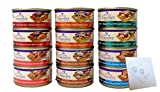Wellness Core Natural Grain Free Signature Selects Wet Cat Food Variety Pack - 6 Flavors (Chicken, Beef, Salmon, Tuna & Salmon, Tuna & Shrimp, and Chicken Liver) 2.8 Ounces Each (12 Total Cans) Larger Image
