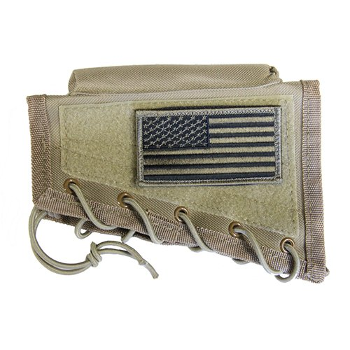 M1SURPLUS Tan Cheek Rest + USA Patriot Flag Morale for sale  Delivered anywhere in USA