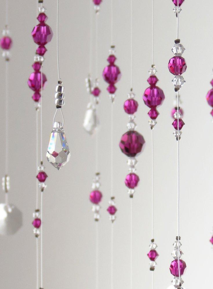 Large Pink Swarovski Crystal Chandelier Hanging Mobile Bling Decoration Suncatcher