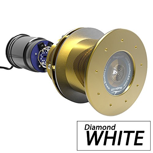 (Bluefin LED Great White GW20 Thru-Hull Underwater LED Light - 9000 Lumens - Diamond White (53391))