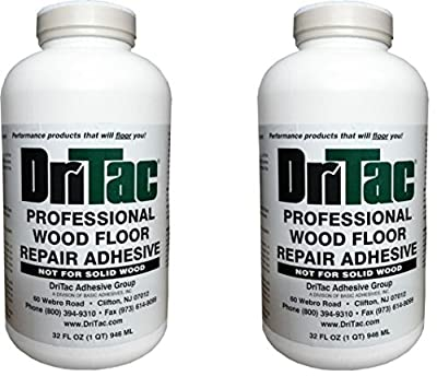 Dritac 32 Fl Oz. Professional Wood Floor Repair Adhesive 2 Pack