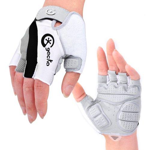 Cgecko Special Wicking Shockproof Mountain Reflex Gel Bike Half Finger Glove Tri-color Optional Outdoor Sports Gloves Cycling Short Glove