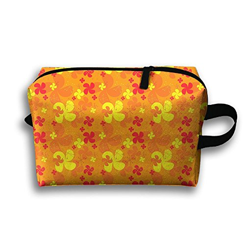 - Upoa3rs Orange Windmill Page Toiletry Kit Travel Bags Cosmetics Portable Cosmetic Bags Women's Waterproof Storage Bags