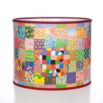 Elmer the Elephant - Pantalla para lámpara, diseño de cuadros y elefante