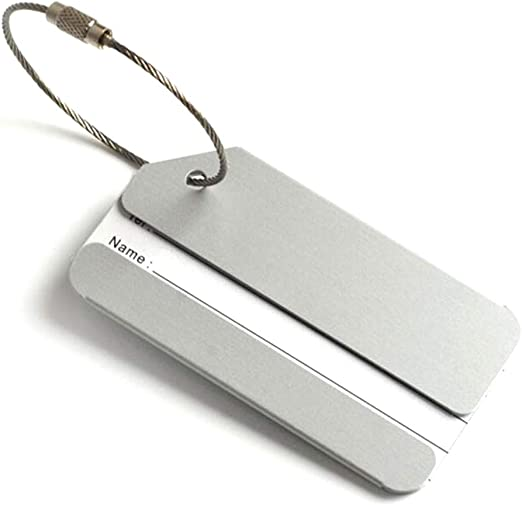 5 Pi/èces Xinlie Aluminum Luggage Tag /Étiquette de Bagage en Aluminium /Étiquette de Bagage en Aluminium /Étiquette de Bagage avec /étiquette de nom /Étiquette dadresse en Acier Inoxydable Connexion