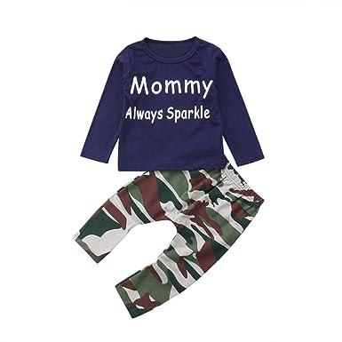 FeiliandaJJ Baby Boys Clothes Set 2Pcs Kids Toddler Cute Cartoon Print Short Sleeve Tops T-Shirt Pants Outfit Pajamas Set