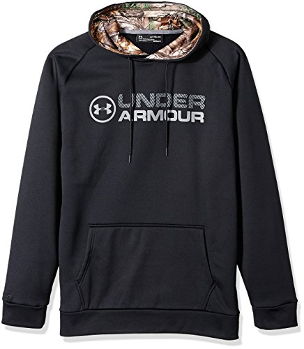 Stacked Hoody Sweatshirt - Under Armour Men's Storm Armour Fleece Stacked Hoodie — Tall, Black /Graphite, XX-Large Tall