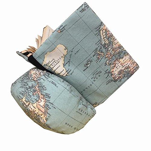 Almohadon de lectura mapa mundi