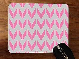 Pink Arrow Pattern Desktop Mouse Pad