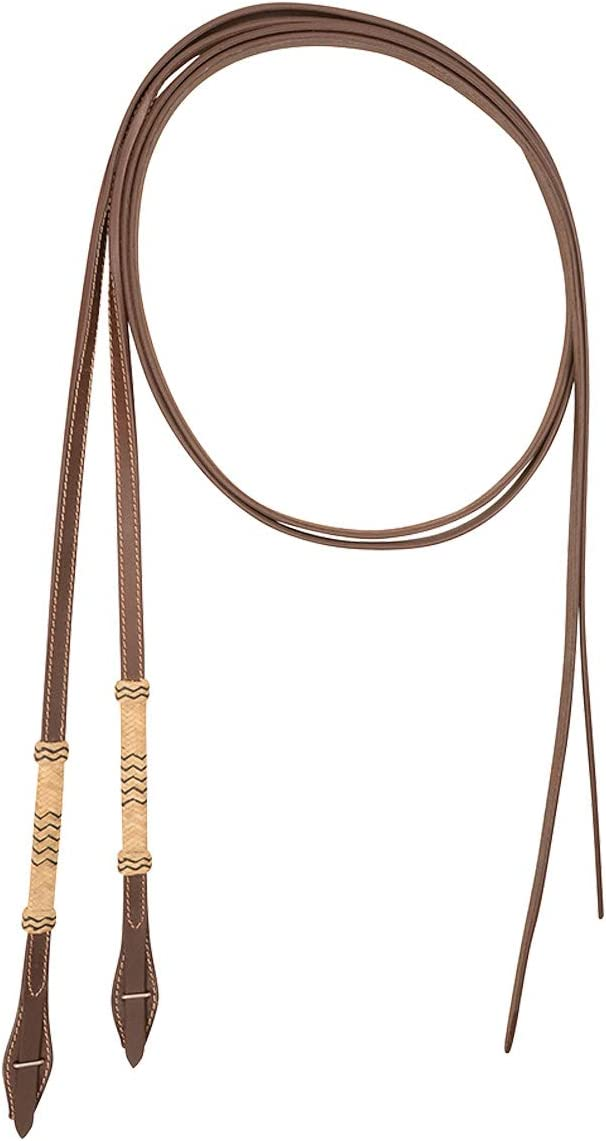 Cashel Quick Change Rawhide Trim Split Reins