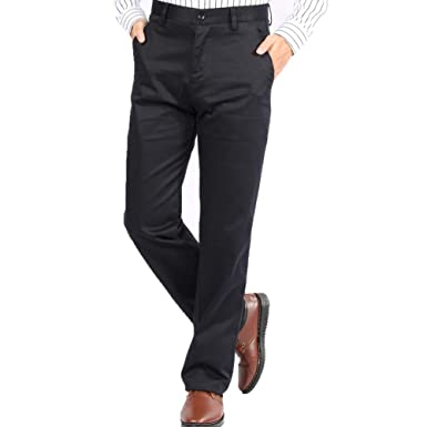6829f73093a Amazon.com  YamCosel Men s Pants Casual Chino Dress Pants for Men ...