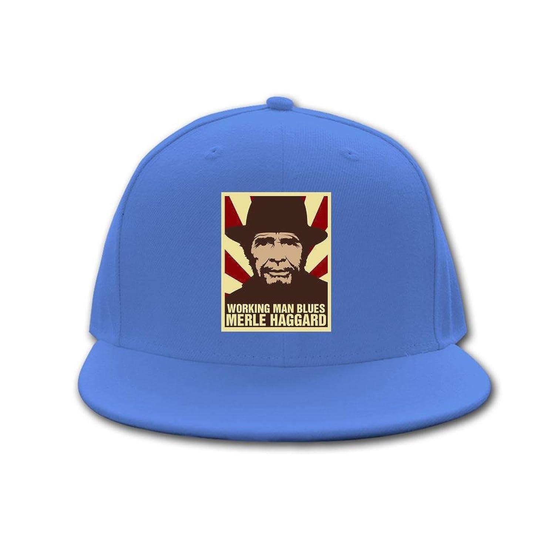 CAQ great merle haggard 2016 Opeeda Adjustable Hip Hop Hats Caps Royal blue For Men/Women