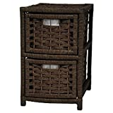 Oriental Furniture 2 Drawer Occasional Chest in Mocha