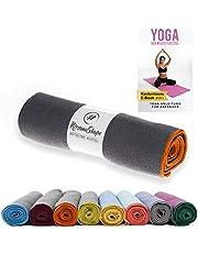 NirvanaShape® Yoga Handtuch Rutschfest   Hot Yoga Towel mit Antirutsch-Noppen   hygienische Yogatuch-Auflage für Yogamatte [ 185 x 63 cm ]