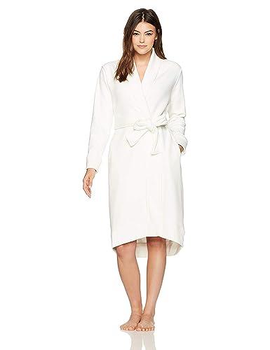 33024e164e UGG Womens Karoline Karoline Solid Long Sleeve Bathrobe White Size  L   Amazon.co.uk  Shoes   Bags