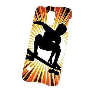 Case Fun Samsung Galaxy S5 (i9600) Case - Ultra Slim Version - Full Wrap Edge to Edge Print - Skateboarder