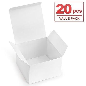 Amazon.com: ValBox 20 cajas de regalo blancas 5 x 5 x 3,5 ...