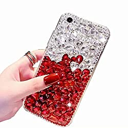 Clear Red Rhinestone With TPU Case for Oppo