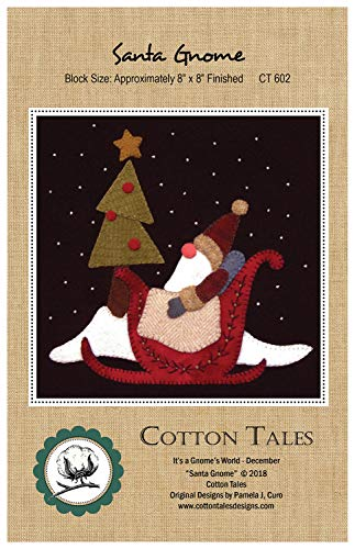 (It's a Gnome's World - December - Santa Gnome Wool Applique Pattern by Cotton Tales CT602 8