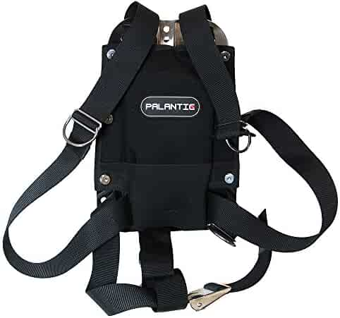 Palantic Techical Diving Stainless Steel Backplate with Harness System plus Backpad and Tank Belt Set