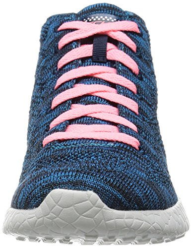 Skechers Sport Damen Burst Divergent Demi Boot Sneaker Blau / Koralle