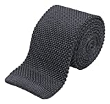 Benchmark Ties 100% Silk Knit Tie in Slate Gray (2.5'' / 6.5cm Wide)