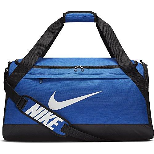 Nike Brasilia Duffel Bag, Game Royal/Black/White, Medium