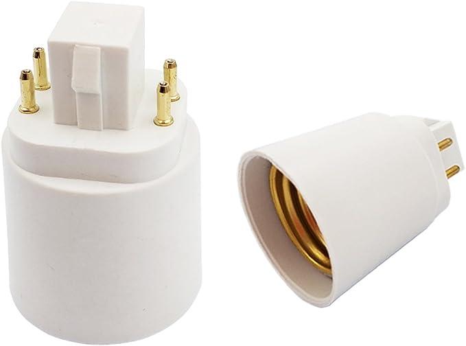Cooper Lights 4-pin Fluorescent//LED Socket GX24q-3//4 Base Lamp 4/' Cable//Holder