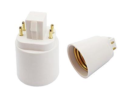 E-Simpo 4Pin Light Socket Adapter, Gx24q to E26/E27 Lamp Base ... on 4 pin g10q socket base, 4 pin gx24q 4 sockets, 4 pin t5 socket, 4 pin led light bulb, 4 pin lamp socket, 4 pin fluorescent, 4 pin bulb socket, 4 pin g24q 3 base, 4 pin light socket,