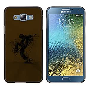 "Be-Star Único Patrón Plástico Duro Fundas Cover Cubre Hard Case Cover Para Samsung Galaxy E7 / SM-E700 ( Catástrofe Ecológica Selva Arte Ciudad Rascacielos"" )"