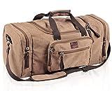 extra large duffel bags for men - Dream Hunter Canvas/Weekender/Travel/Duffel Bag for Men's, Brown