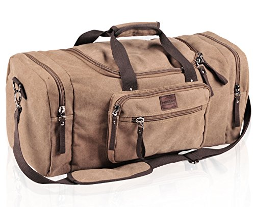 Duffel Bag Brown Canvas Travel Duffel Bag Weekender Bags Gym Bag For Man