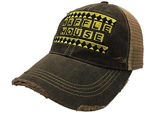 - Waffle House Restaurant Retro Brand Mesh Adjustable Snapback Trucker Hat Cap
