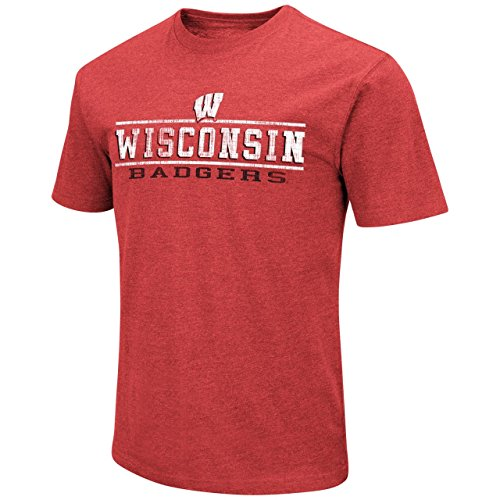 Colosseum Wisconsin Badgers Adult Soft Vintage Tailgate T-Shirt - Red, (Wisconsin Badgers Soft Football)