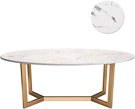 mesas de Centro Moderna Mesa de Centro con sofá Ovalado de mármol ...
