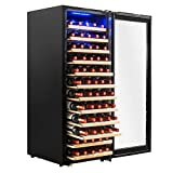 AKDY 80 Bottles Single Zone Built-in Compressor Freestanding Electric Wine Cooler Refrigerator