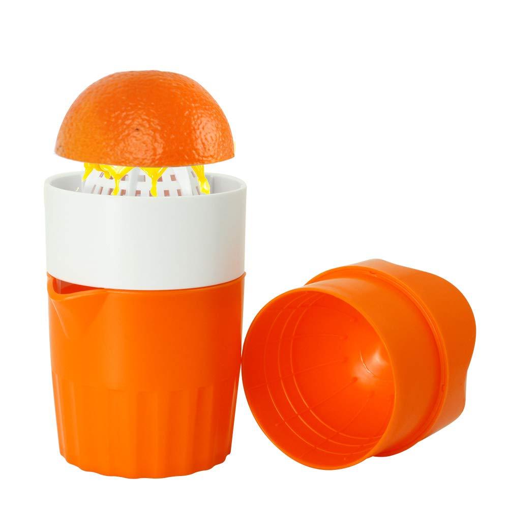 Ourokhome Hand Orange Juicer Manual Citrus Juice Maker Press Squeezer for Lemon, Lime, Mini Grapefruit with Small Pulp