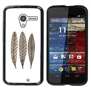 Be Good Phone Accessory // Dura Cáscara cubierta Protectora Caso Carcasa Funda de Protección para Motorola Moto X 1 1st GEN I XT1058 XT1053 XT1052 XT1056 XT1060 XT1055 // Feather Le