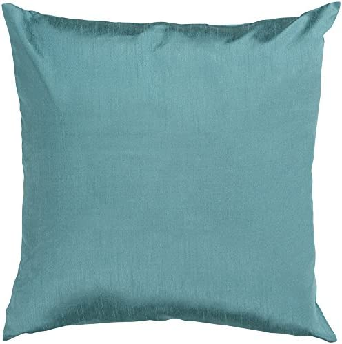 Artistic Weavers HH-041 Hand Crafted 100 Polyester Turquoise 18 x 18 Solid Decorative Pillow