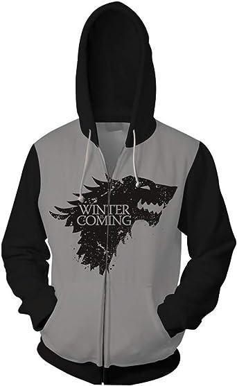 Unisex HOODIE TV Game of Throne Hooded Pullovers Outwear Sweater Sweatshirt Coat