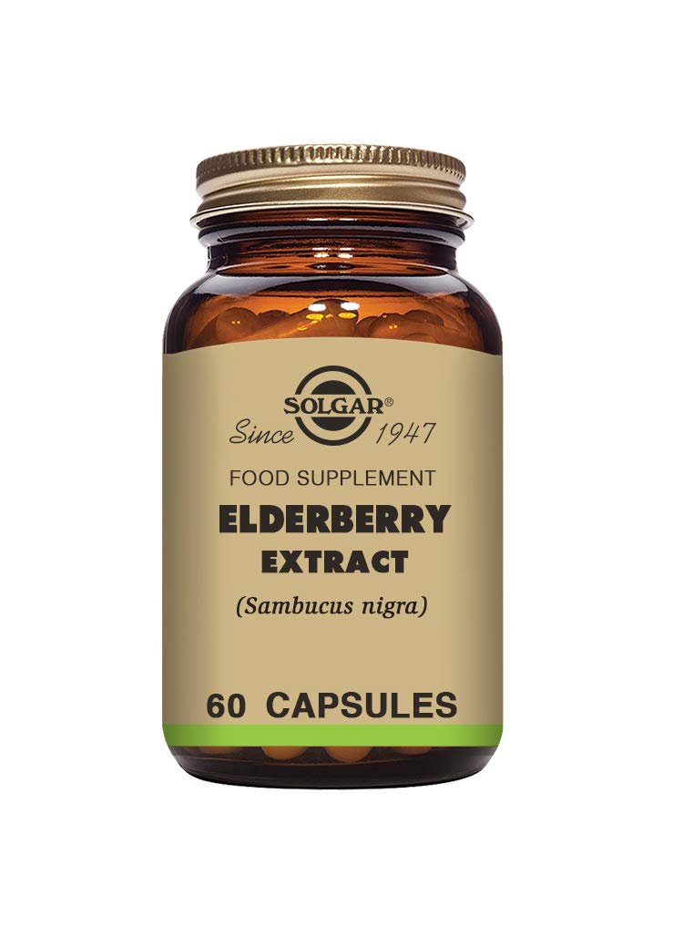 Solgar Elderberry Extract Vegetable Capsules - Pack of 60