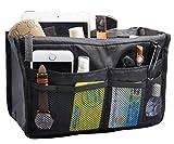 Travel Organizer Bag Multi-pocket Insert Handbag Purse Tidy Bags For Multipurpose Black