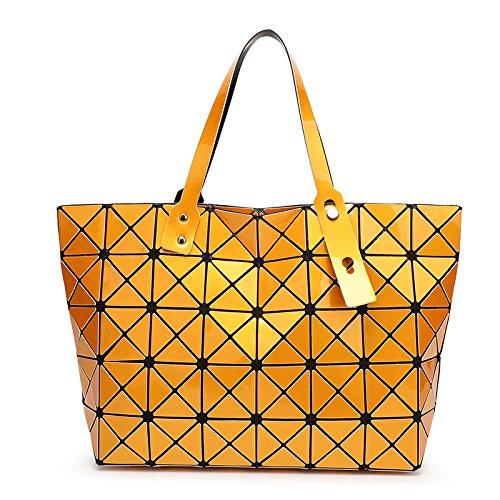 Meoaeo Bolsa De Dama Moda Bolsa Caso Diamond Geometría De La Sección Transversal Violeta orange