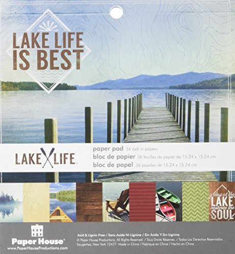 Paper House Productions PP-0629E Lake Life Paper Pads, (Paper House Rub)