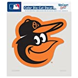 MLB Baltimore Orioles 8-by-8 Inch Diecut Colored Decal